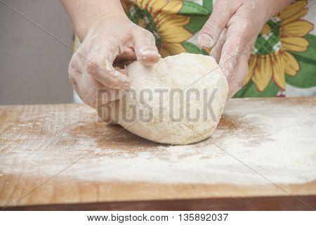 Women's Hands Preparing Fresh Yeast Dough