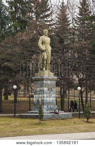 Kislovodsk, Russia - 28 February, The monument to Dzerzhinsky, 28 February, 2016. Resort zone Mineral Waters, Krasnodar region.