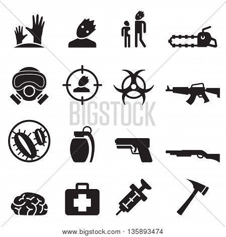 Zombie icons set vector illustration  graphic design