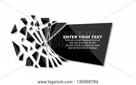 CRUSHED ELEMENTE TEMPLATE MESSAGE STICKER for web and other