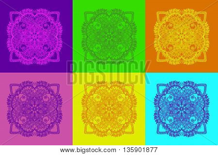 Vintage decorative element. Hand drawn vector stock illustration.