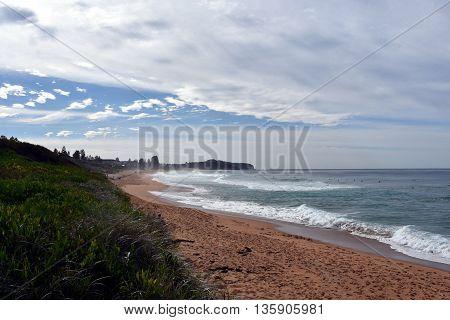 Collaroy beach (Sydney, Australia) on the coldest day in winter 2016.