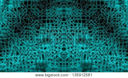 Dark Green Abstract Tangle Network Space Background