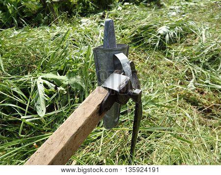 Agricultural Hand Tool ,  scythe , scythe old farm tools