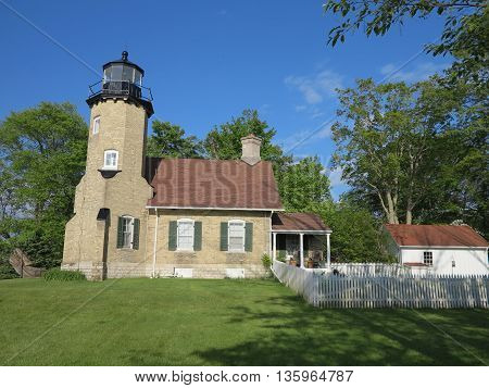 Historic Whitehall Station Lighthouse Museum in Michigan