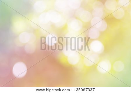 Dreamy Pastel And Dreamy Bokeh Background