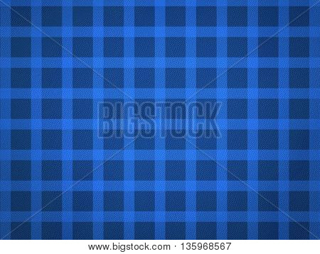 Blue Table cloth pattern with texture. Junina Party