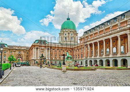 Budapest, Hungary-may 03, 2016 :budapest Royal Castle -courtyard Of The Royal Palace In Budapest. Hu