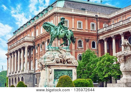 Styatue Of Savoyai Eugen,  Near The Royal Palace In Budapest. Hungary.