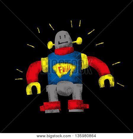 Friendly retro robot