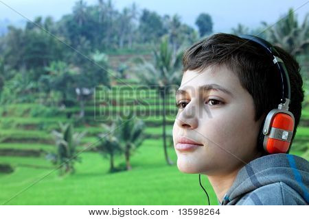 Boy with headphone