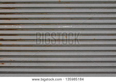 Old Rusty  Slide Door ,roller Shutter Texture