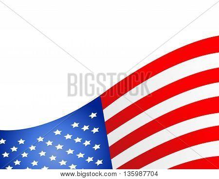 United State Of America flag isolated art