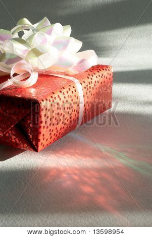 Beautifully Cased Gift On A White Background