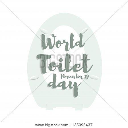 World toilet day, november 19 banner, illustration