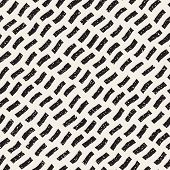 Vector Seamless Black And White Hand Drawn Daigonal Wavy Lines Grunge Pattern. Abstract Freehand Background Design poster