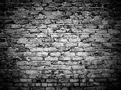 rough brick wall poster