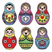 Kawaii cute Russian nesting doll - Matryoshka poster