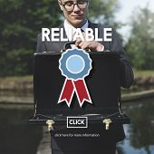 Reliable Trusty Badge Responsible Concept poster
