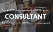 Consult Consultant Consulting Advice Help Concept poster