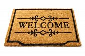 Image of a straw welcome mat / doormat poster