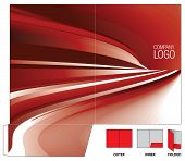 Corporate folder with die cut. poster
