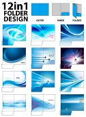 12 in 1 Folder Design Templates poster