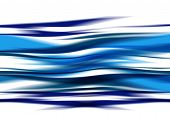 an abstract illustration of blue waves on white poster