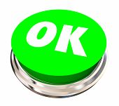 OK Okay Accept Approved Satisfied Button 3d Illustration poster