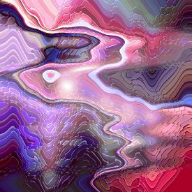 Abstract coloring background of the horizon gradient with visual wave,lens distortion and mosaic effects,good for your design