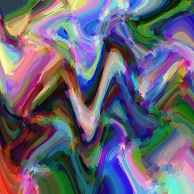 Abstract red coloring background of the pastels gradient with visual wave and cubism effects,good for your design