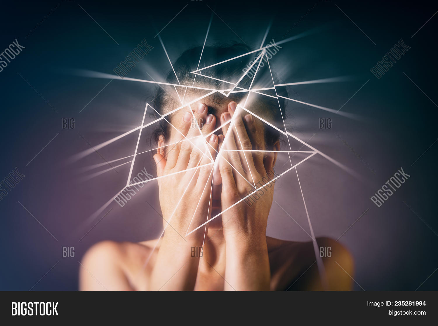 Woman Covers Her Face Image Photo Free Trial Bigstock