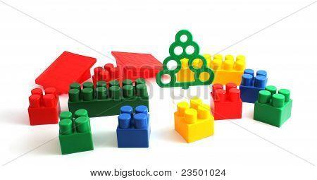 Colorful Plastic Toy Bricks