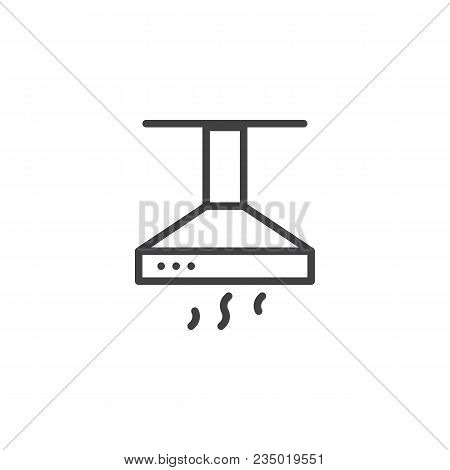 Kitchen Hood Outline Icon. Linear Style Sign For Mobile Concept And Web Design. Exhaust, Extractor H