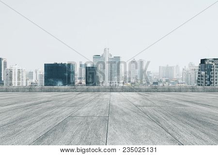 Creative Dull Conrete City Backdrop With Copy Space