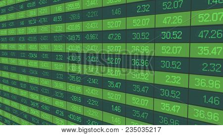 Stable Growth Of Company Asset Price Show In Figures On Stock Market Board, Stock Video