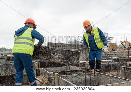 Tobolsk, Russia - July 15. 2016: Sibur Company. Construction Of Plant On Processing Of Hydrocarbonic