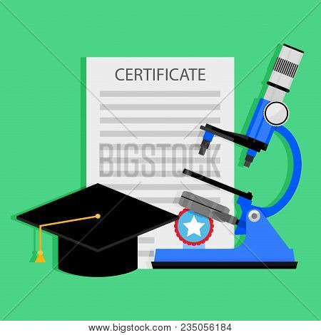 Diploma Science Degree Concept. Education And Knowledge To Degree, Diploma And Graduation, Science I