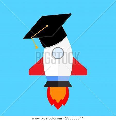 Start Training College University. Start Up University Education, Training In School, Vector Illustr