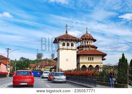 Hunedoara, Romania - September 28, 2017: The Basilica Of St. Andrew The Apostle And St. George The G