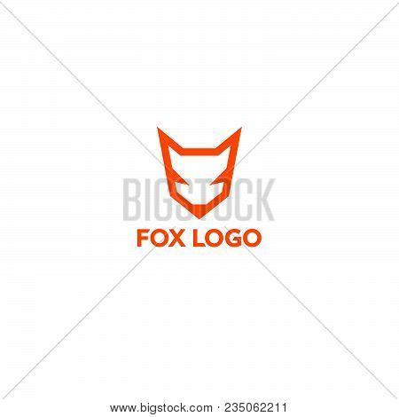 Fox Logo. Fox Emblem. Orange Logo On A Light Background.