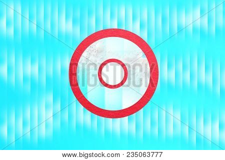 Circle Call Button Red Blue Abstract Logo Design Template, Infinite Loop Shape Creative Symbol, Posi