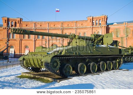 Saint Petersburg, Russia - January 20, 2017: Self-propelled Artillery Unit 2s5