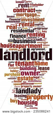 Landlord Word Cloud Concept. Vector Illustration On White
