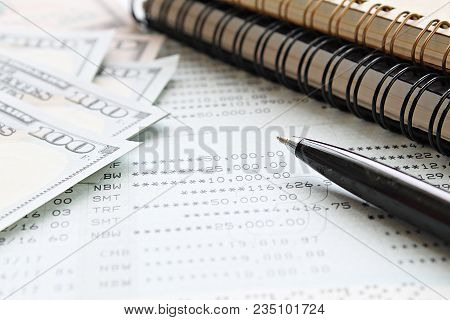 Business, Finance, Saving Money, Investment Or Accounting Concept : American Dollar Cash Money, Note