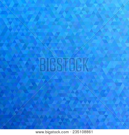 Blue Abstract Mosaic Regular Triangle Mosaic Background - Trendy Mosaic Vector Design