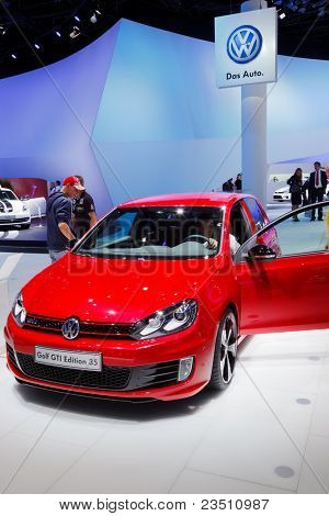 FRANKFURT - SEP 17: Volkswagen Golf GTI concept car shown at the 64th Internationale Automobil Ausstellung (IAA) on September 17, 2011 in Frankfurt, Germany.