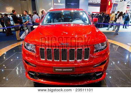 FRANKFURT - SEP 17: Jeep Grand Cherokee shown at the 64th Internationale Automobil Ausstellung (IAA) on September 17, 2011 in Frankfurt, Germany.