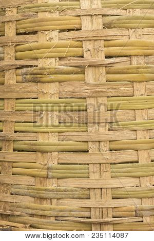 Background Of Texture Of Big Bamboo Basket Weave