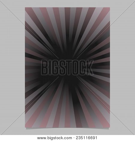 Abstract Ray Burst Brochure Background Template - Vector Stationery Graphic Design From Radial Strip